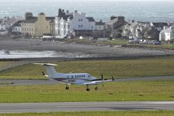 King Air 250 at Ronaldsway