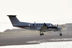 King Air 250 Landing Isle Of Man